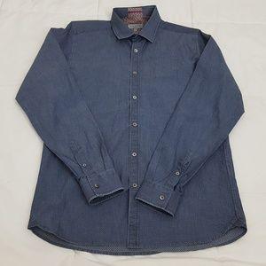 Ted Baker London Casual Shirt Mens Medium Blue